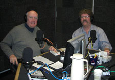 """Me with Don Marsh on the NPR program """"St. Louis On the Air."""""""