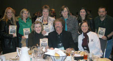 """Here I am participating in the """"Author Luncheon"""" at the National Council of Teachers of English conference.  I'm with a group of teachers from Mississippi who were getting ready to share Inman's War with their students.  We had a great discussion of the book.  I very much enjoyed being with them; they were all wonderful teachers."""