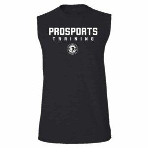 An image of a black Men's Pro Sports Training sleeveless t-shirt