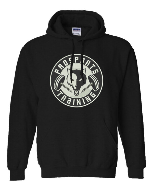An image of a black Pro Sports Training hoodie