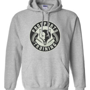An image of a grey Pro Sports Training hoodie