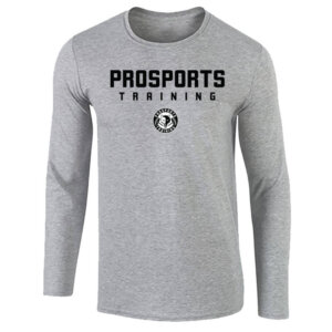 An image of a grey mens Pro Sports Training Long Sleeve T-shirt