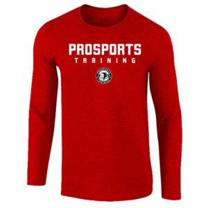 An image of a red mens Pro Sports Training Long Sleeve T-shirt