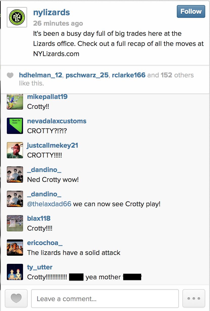 NY Crotty reaction