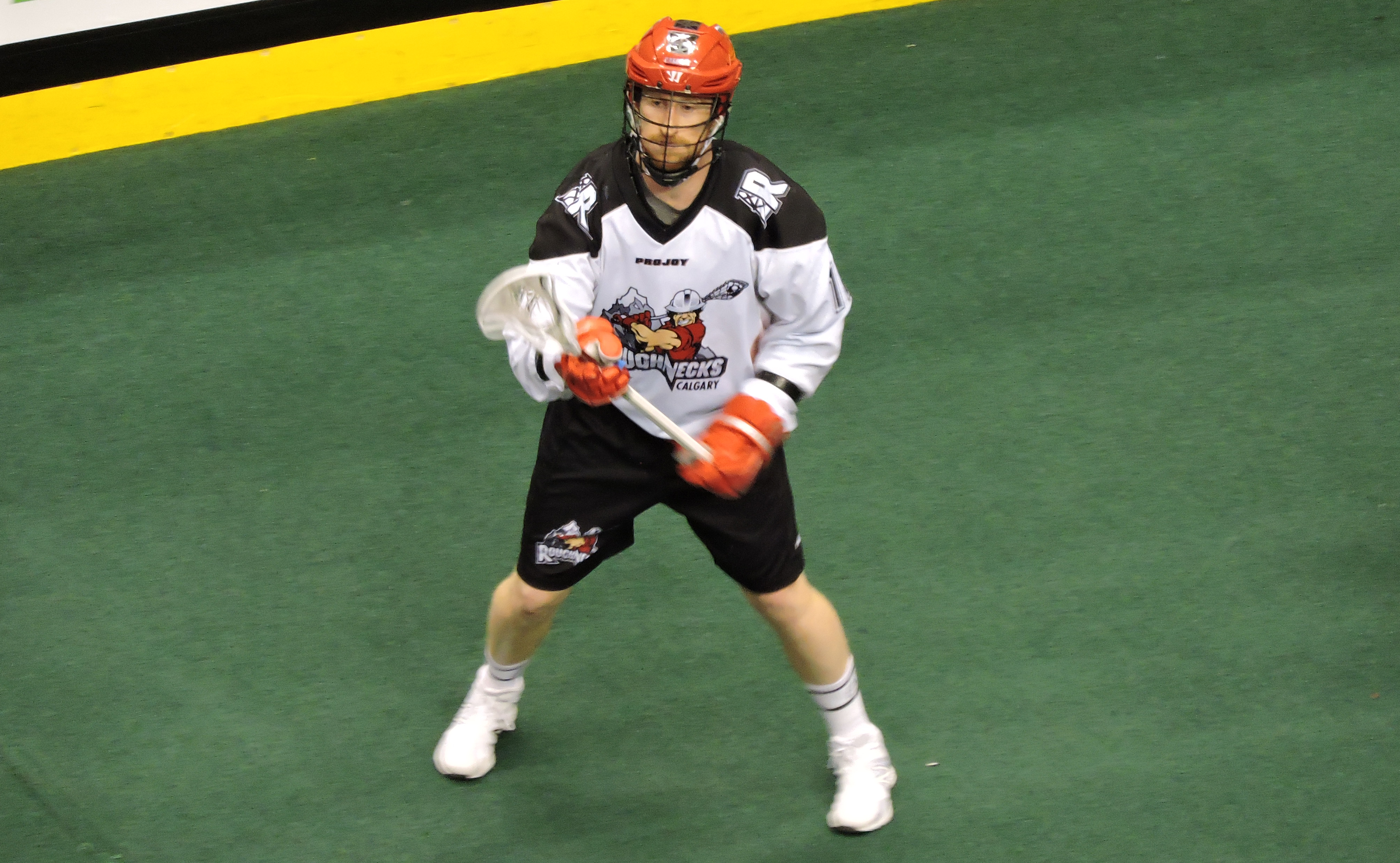 Curtis Dickson of the Calgary Roughnecks in action against the Toronto Rock on March 11, 2017 at the Air Canada Centre. (Photo credit: Anna Taylor)