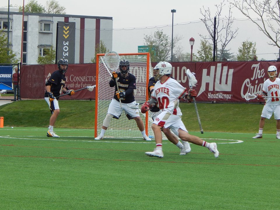 Connor Cannizzaro of the Denver Pioneers could be a first-round pick in the 2017 MLL draft. (Photo credit: Ian Neadle)
