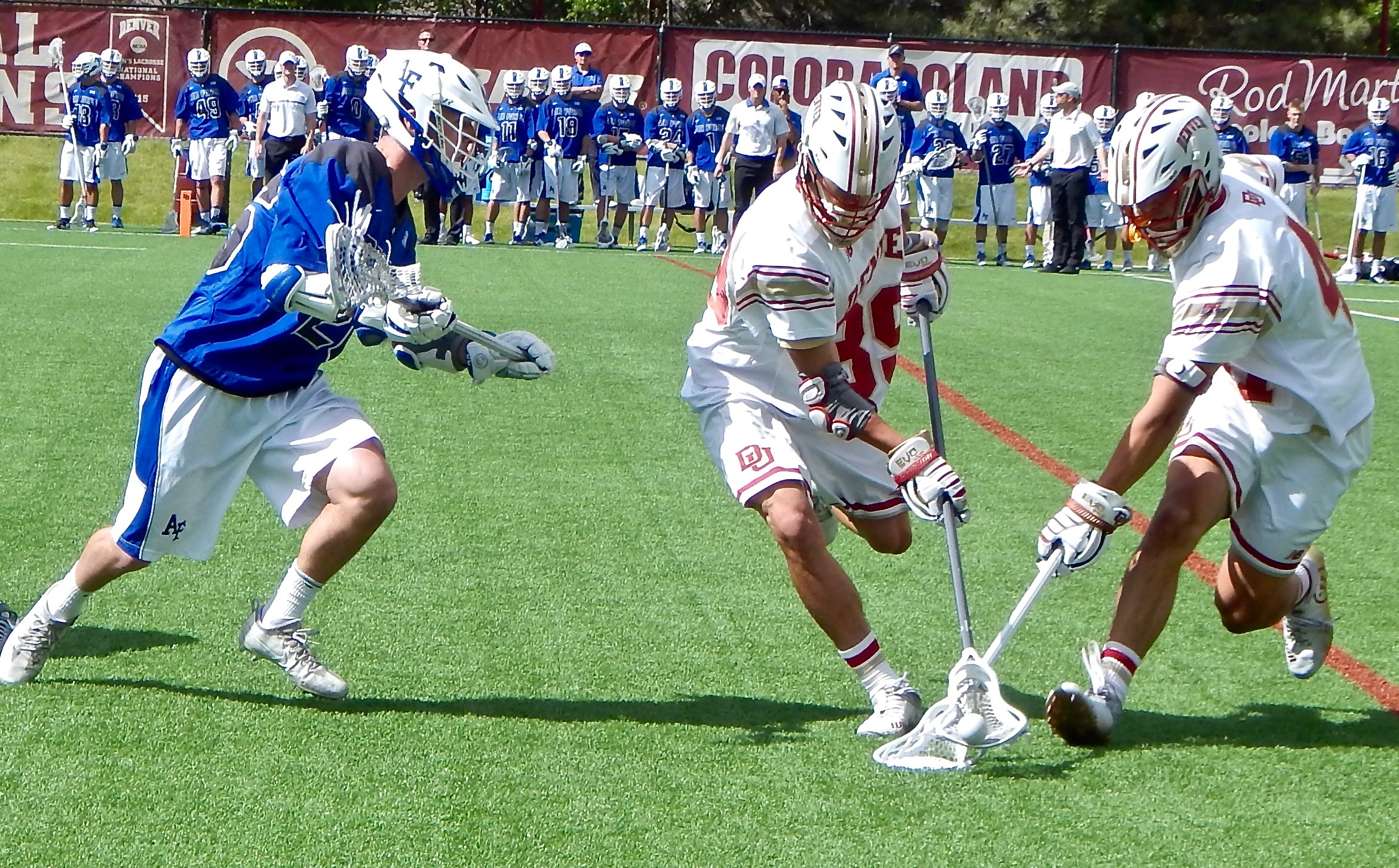 Denver Pioneers vs Air Force Falcons in NCAA D1 action. (Photo credit: Ian Neadle)