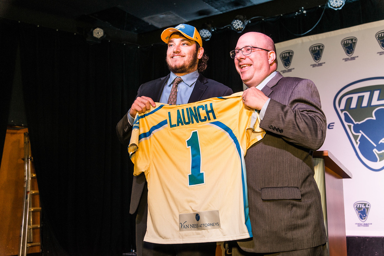 Dylan Molloy goes first overall at the 2017 MLL draft. (Photo credit: Major League Lacrosse)