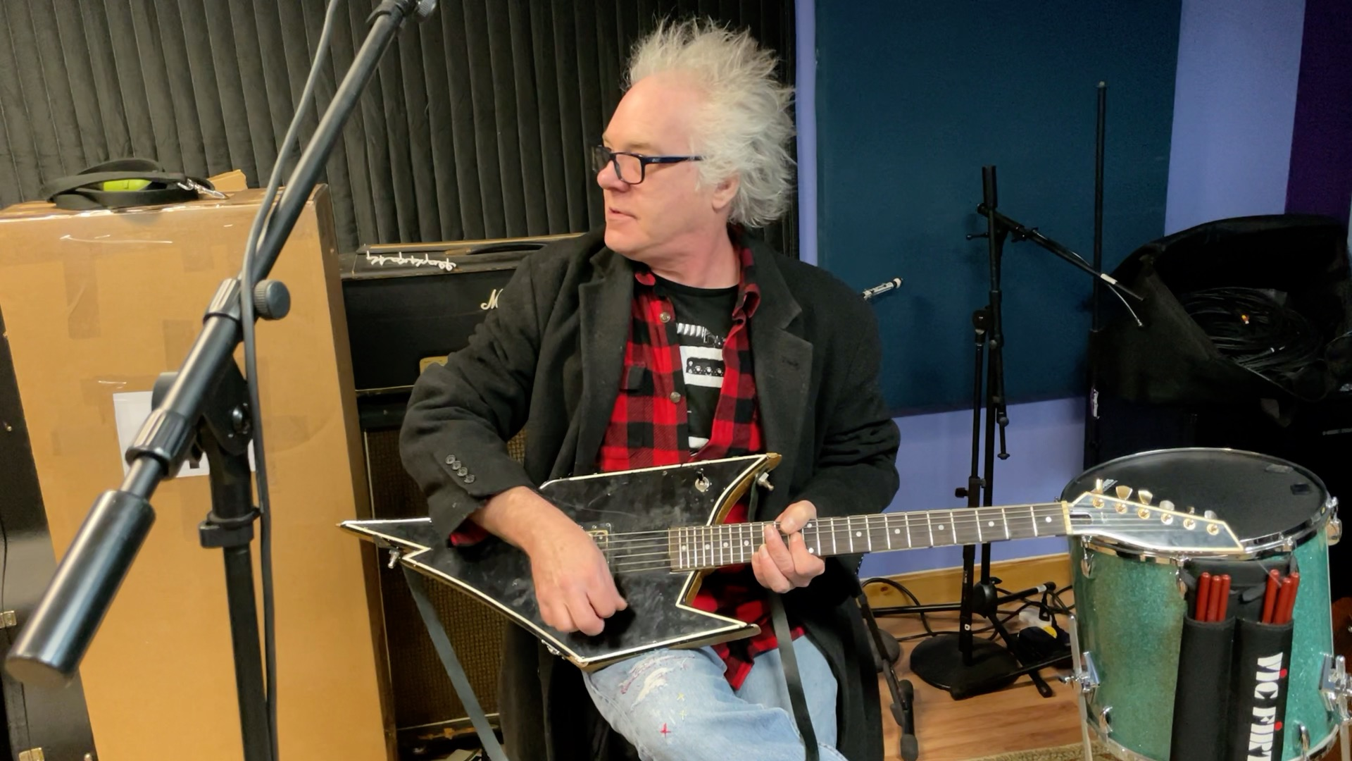 Brynn Arens of Flipp Brings in his Legendary Coyote Guitar for a Setup