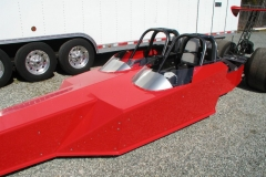 Red 2 Seater Dragster from Race Tech