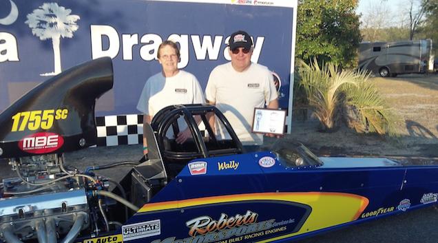 Wally Roberts Runner Up in Quick Rod at IHRA Pro-Am at Carolina Dragway