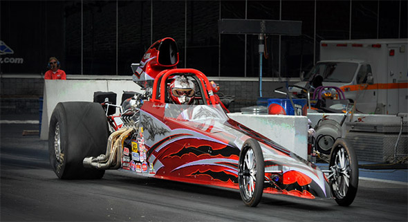 Red Race Tech Dragster