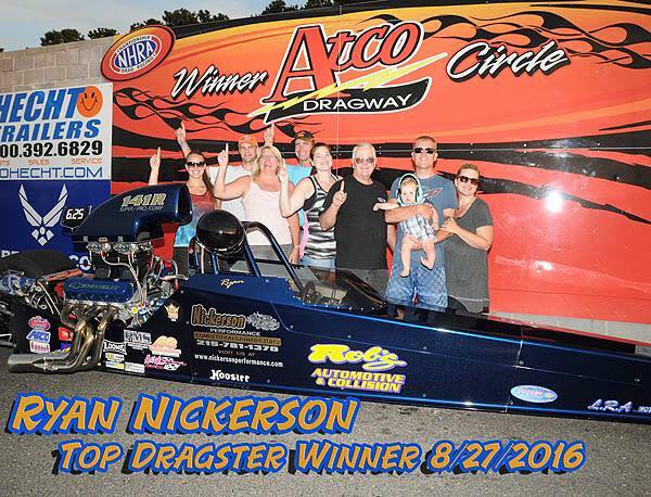 Ryan Nickerson Wins Top Dragster