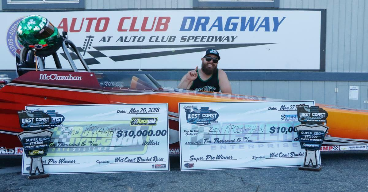 Ryan McClanahan Doubles up at Auto Club Dragway