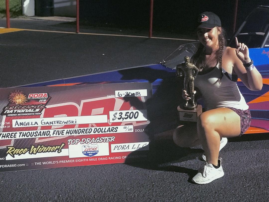 Angela Gantkowski picks up a PDRA win in an all Race Tech Final