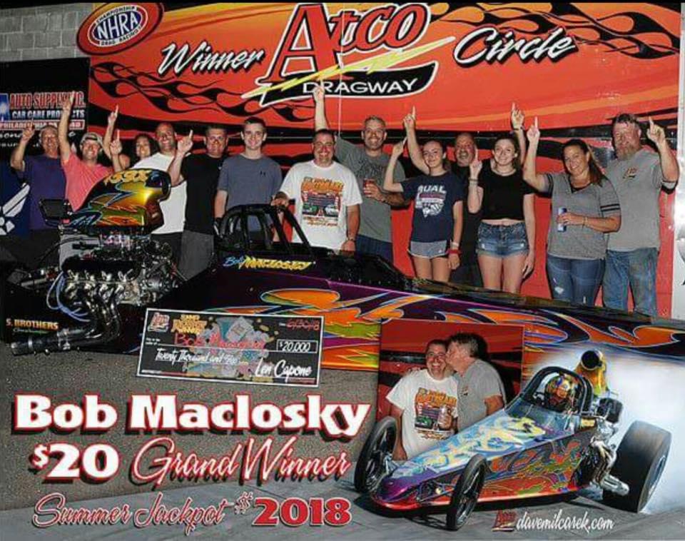 Bob Maclosky wins $20,000 at Atco