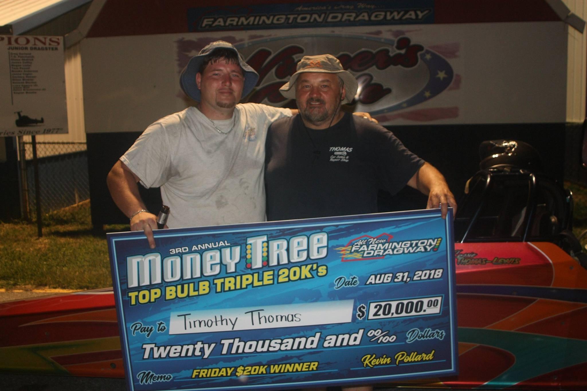 Timothy Thomas Seals the deal on $20,000 at Farmington