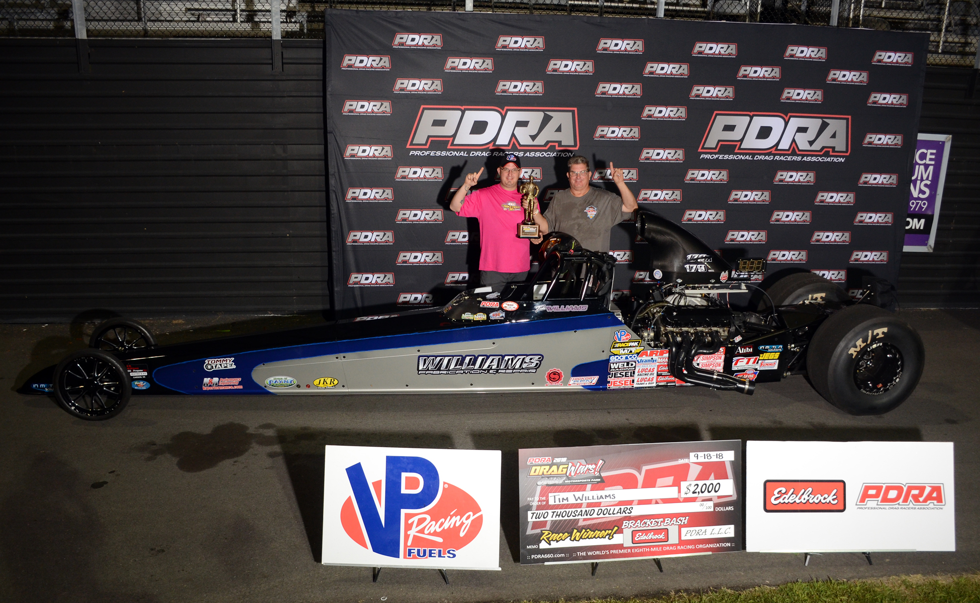 Tim Williams Wins PDRA Dragwars at GALOT