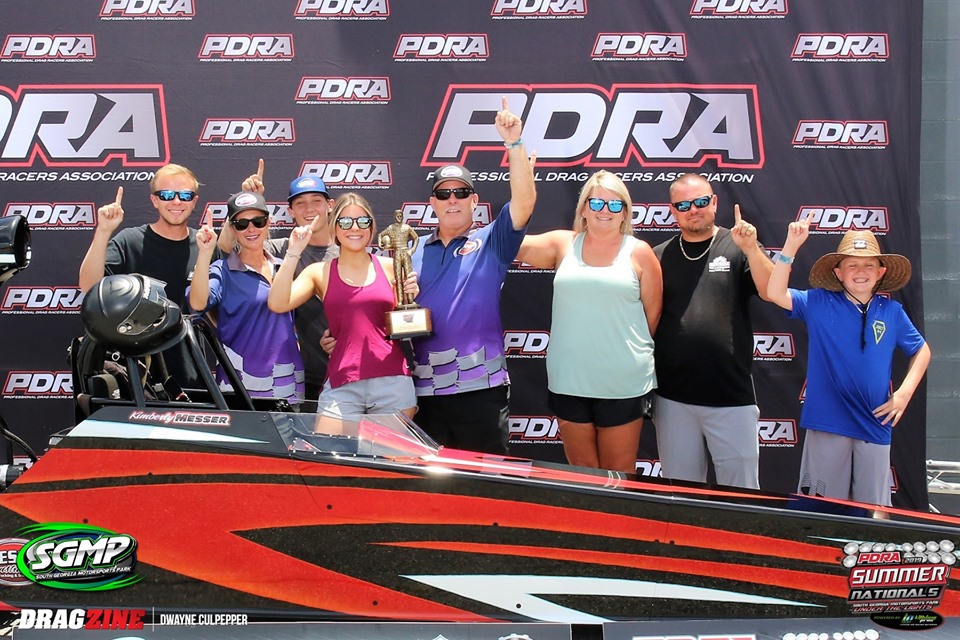Kimberly Messer Dominates PDRA Top Dragster at SGMP