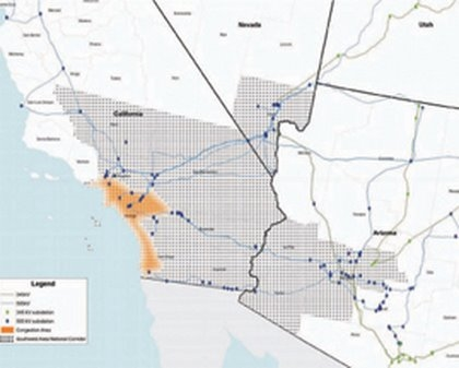 Figure 4 DOE's designated Southwestern Energy Corridor in southern California, southern Nevada and southwestern Arizona