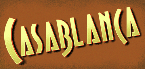 Casablanca finished lettering