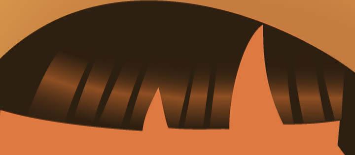 illustrator hair close up