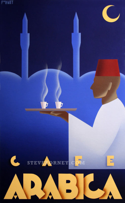 cafe arabica coffee poster