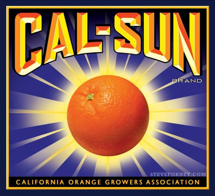 cal-sun orange crate label