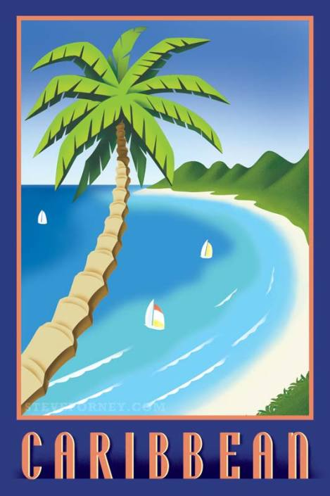 tropical caribbean poster