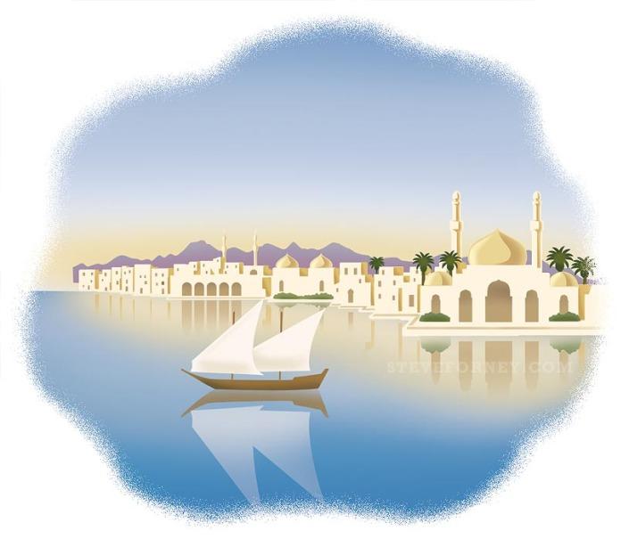 arabian river town