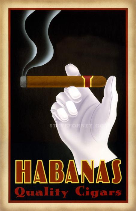 white glove holding cigar