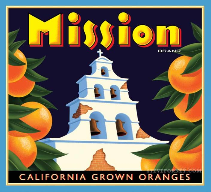mission oranges label