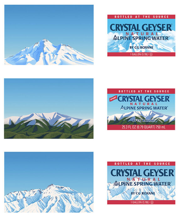 Crystal Geyser Sing Water Labels