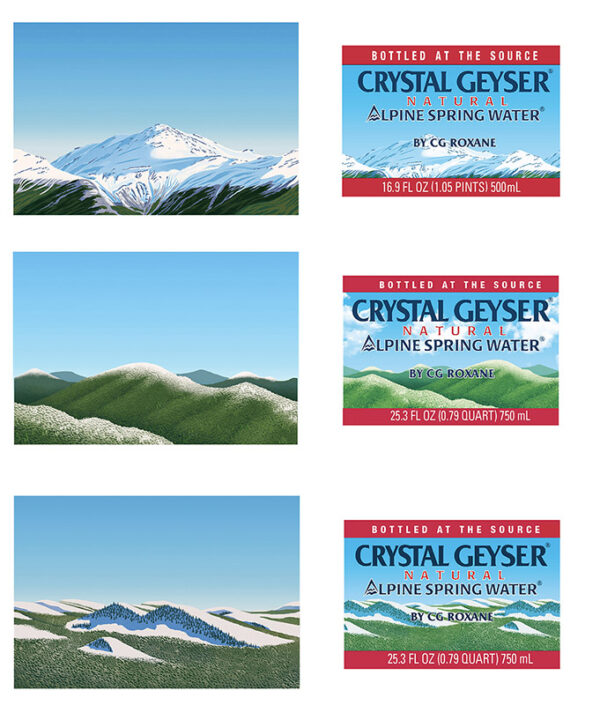 Crystal Geyser Spring Water Labels