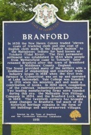 Image of sign of Brandford CT