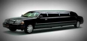 Image of Greenwich 8-10 passenger black Lincoln Town Car stretch limousine