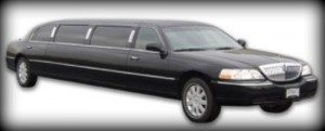Image of black 8-10 passenger Easton Lincoln Town Car stretch limousine