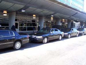 Using airport transportation and drop off for heist photo