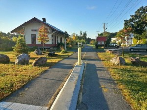 This is an image of Redstone Rail Trail. East Longmeadow limo will get you out and about for the day or night.