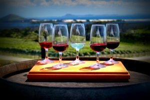 Image of five glasses of wine