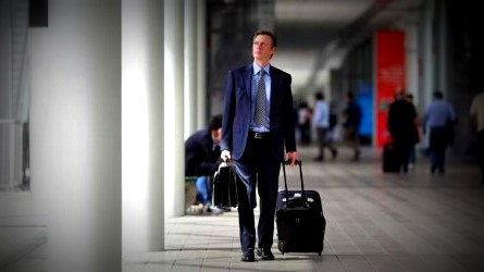 Image of Business Man Traveling