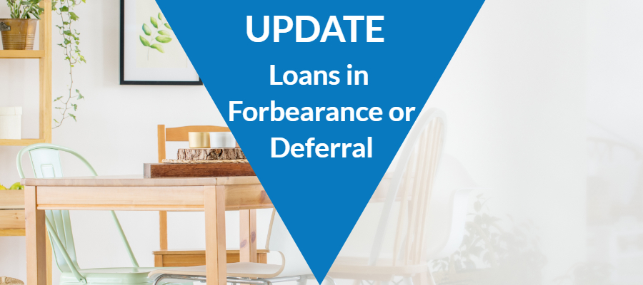 UPDATE – Loans in Forbearance or Deferral