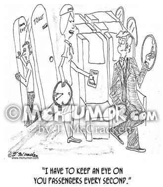 0006 Stewardess Cartoon1