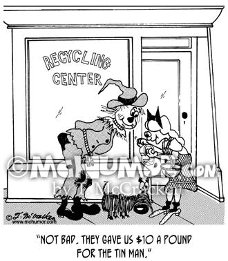 Recycling Cartoon 4801