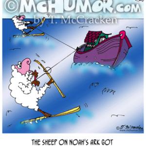 6695 Water Skiing Cartoon1