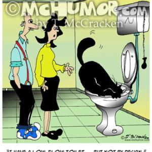 7038 Plumbing Cartoon