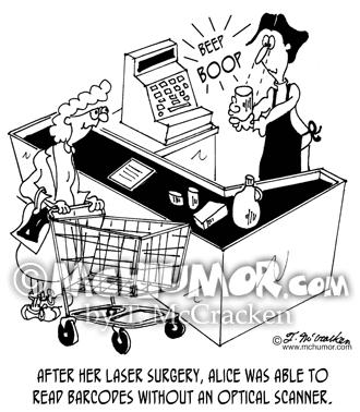 Bar Code Cartoon 7372