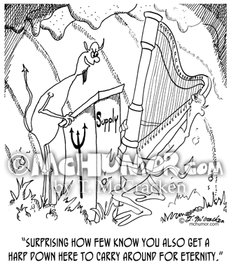 6525 Harp Cartoon