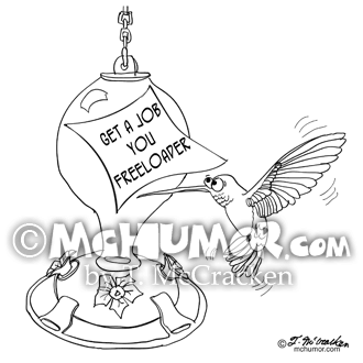 9273 Humming Bird Cartoon