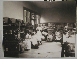 Basket and Rug Weavers at the Asylum